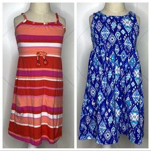 lot of 2 Gymboree toddler print maxi dresses 3T